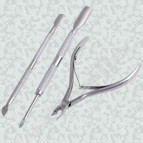Cuticle Nail Manicure Spoon Pusher Nipper Clipper KIT
