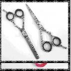 6″ Professional Hairdressing Scissors White Zebra Barber Shears Thinners SET