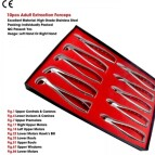 10 Pcs Adult Extraction Forceps Kit